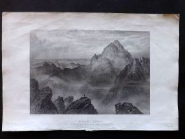 Fairbairn & Blackie 1866 Antique Print. Mount Sinai, Holy Land